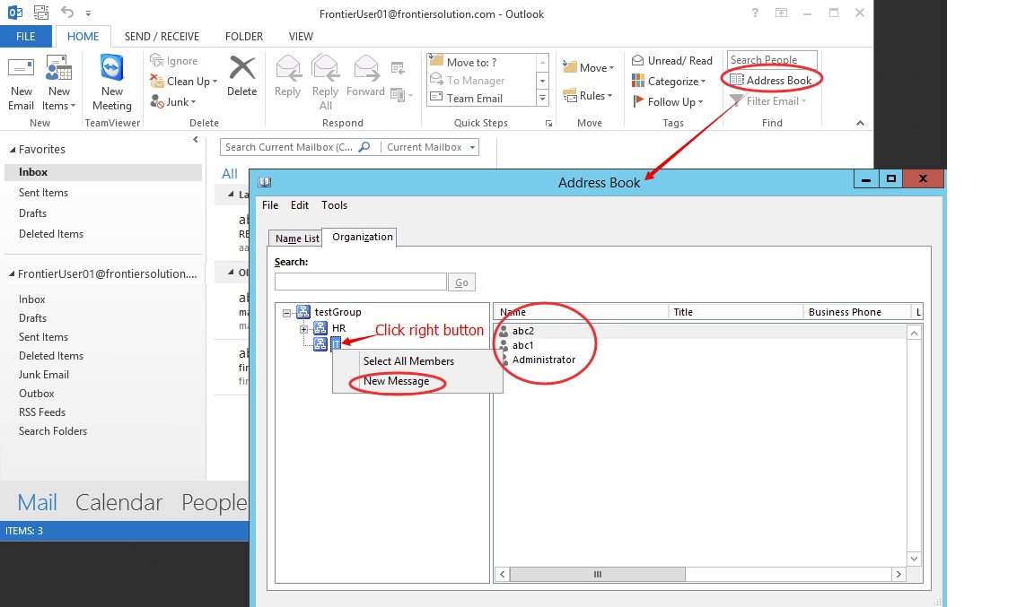 how to add sender to address book in outlook 2013